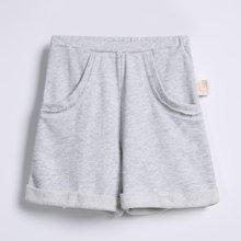 G100寄意百夏季男女童运动短裤儿童休闲翻边短裤潮宝宝舒适裤子