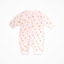 丑丑婴幼 宝宝女0-1岁潮婴儿哈衣连体衣长袖秋冬爬衣纯棉爬服CHD055T