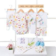 班杰威尔12件套婴儿衣服夏季新生儿礼盒套装纯棉刚出生宝宝满月用品