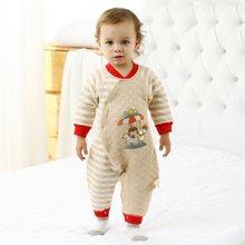 班杰威尔秋冬季加厚婴儿连体衣棉衣哈衣新生儿衣服彩棉保暖服