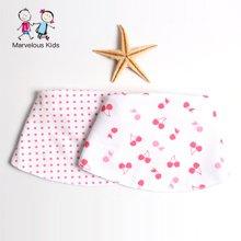 Marvelous kids 2件装新生儿口水巾婴儿半月可爱围嘴英国风