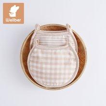威尔贝鲁(WELLBER)夏季婴儿手臂枕套宝宝抱席枕小孩喂奶彩棉纱布手臂枕套