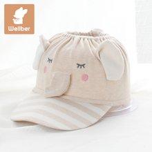 威尔贝鲁(WELLBER) 婴儿帽子儿童卡通空顶帽春夏鸭舌帽