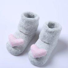 G100寄意百爱心图案立体袜盒装婴儿袜子弹性伸缩0-1岁竹纤维棉袜