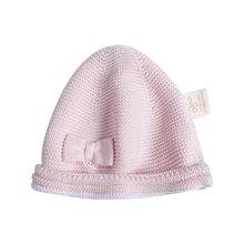 G100寄意百秋冬毛线帽新生儿0-12个月儿童保暖帽蝴蝶结宝宝帽子