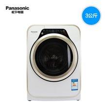 Panasonic/松下 松下洗衣机XQG30-A3022迷你小型洗衣机儿童宝贝婴儿滚筒3KG