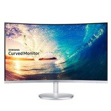 三星(SAMSUNG) 27英寸LED背光曲面电脑显示器 带音箱C27F591FD(底座银色)