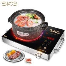 SKG 电磁炉电陶炉家用茶壶炉不挑锅三环双控低辐射 2200W大功率1601 黑金色