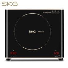 SKG 电陶炉家用电磁炉茶壶炉不挑锅双旋钮数码速显1685D 金色