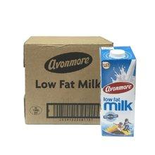 爱尔兰进口艾恩摩尔(AVONMORE)低脂牛奶1Lx6 整箱