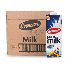 爱尔兰进口艾恩摩尔(AVONMORE)全脂牛奶1Lx6 整箱