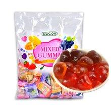 马来西亚进口 可康COCON心形什锦水果汁软糖喜糖橡皮糖
