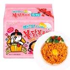 韩国进口三养火鸡面超辣奶油味粉色火鸡面新款干脆面130g*5