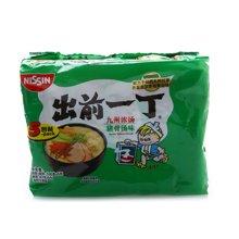 出前一丁高品质即食面九州浓汤猪骨汤味五联包(500g)