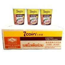 7coin 七咔呢 泰式香辣牛肉风味方便面 70g 杯面装 泰国原装进口 12盒/箱
