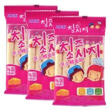 ZEK芝士鳕鱼肠袋装105g*3袋组合 韩国进口零食即食鳕鱼肉肠