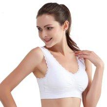 俞兆林 无痕内衣女士运动文胸背心式无钢圈零束缚蕾丝花边文胸YZL720087