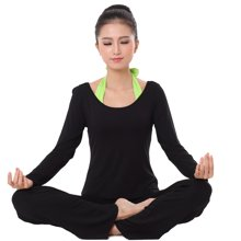 兰博伊人新款瑜伽服三件套女长袖时尚后系挂脖愈加服舞蹈服练功服健身服L107B108B068CX