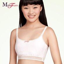 曼妮芬舒适棉质学生内衣 可爱少女发育期吊带短背心式文胸 Angel*阳光天使20400055