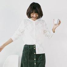 素缕秋装女2018新款女装文艺白色立体刺绣绣花长袖衬衫女QS8329鑫