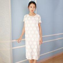 素缕夏装2018新款女文艺套装裙白色裙子短袖连衣裙两件套SV8204尛