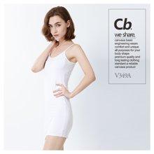 CANVAUS莫代尔打底连衣裙夏季新款吊带背心贴身舒适百搭睡裙女V255A