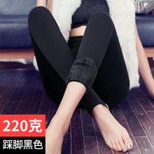 百依恋歌 女士高密锦纶纯色加厚加绒一体踩脚裤 17F1211