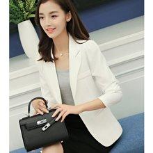 亿族 2018四季新款韩版修身纯色小西装一粒扣长袖女西装外套 8028
