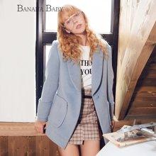 BANANA BABY新品韩版甜美复古毛呢外套女呢子大衣中长款D74D057