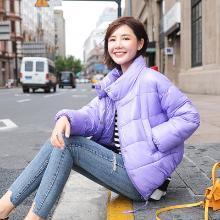 妙芙琳 2018冬季新款女轻薄羽绒服短款面包服糖果色休闲棉服chic风外套