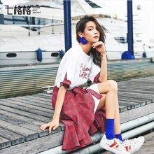 新品 七格格 短袖套装女两件套裙时髦减龄夏装2018新款学生俏皮韩版高腰小清新