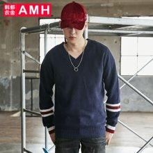 AMH韩版男装新款学生宽松休闲长袖针织毛衣男QO7675薬噺