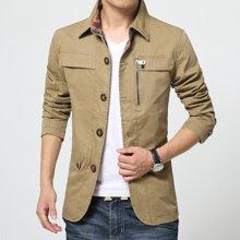 史克维斯新款男夹克韩版修身中长款青年男士外套潮J5761