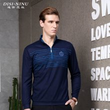 迪仕·尼奴秋季新款男装 男士修身Polo长袖商务休闲T恤0058
