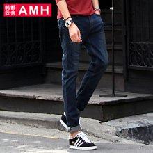 AMH 韩版男装修身牛仔裤小脚裤春装时尚裤子男潮流青年铅笔裤燊