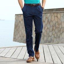 迪仕尼奴 中老年弹力宽松牛仔裤 直筒商务夏季薄款男装男士长裤子8301E