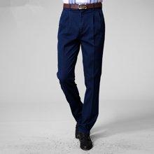 迪仕尼奴 春夏新款中年男士牛仔裤 夏季薄款弹力宽松直筒双折牛仔裤8280E