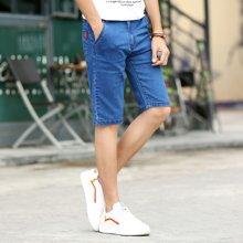 搭歌2018夏季新款牛仔短裤韩版青年男士纯色五分裤BL-8855