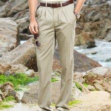 迪仕尼奴 新款男士商务休闲裤 春季爸爸装直筒夏季中年薄宽松裤子8414D