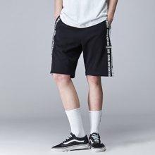 Guuka/古由卡运动针织裤男 青少年街头跑步短裤男夏天嘻哈宽松五分裤纯棉D4530