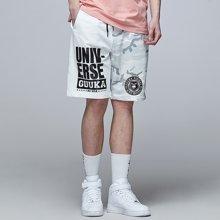 Guuka/古由卡潮牌迷彩运动短裤男夏天日系青少年潮流嘻哈五分裤宽松休闲针织裤D4391