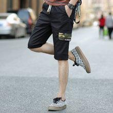Guuka/古由卡2018夏季短裤男士五分裤潮流韩版七分裤休闲运动纯棉沙滩裤马裤XY-DK1835