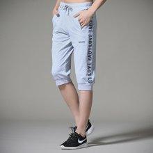 搭歌夏季新款男式休闲韩版直筒运动裤短款七分裤男士潮流卫裤K365