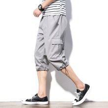 搭歌夏季新款宽松七分休闲短裤男大码工装裤韩版男裤子运动裤k087