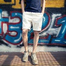搭歌短裤夏季新款情侣直筒简约热裤男士纯色短裤五分裤休闲裤子男258
