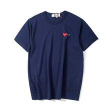 PLAY 川久保玲 香港直邮 双心短袖T恤男女 同款 AZ-T 225-051-5-5