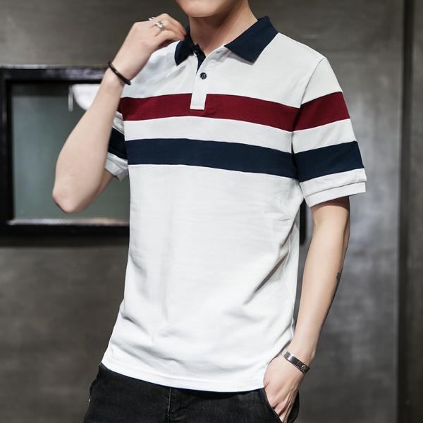 富貴鳥男裝2019夏季新款POLO衫男裝短袖t恤翻領半袖時尚韓版修身潮流上衣MLSP18