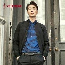 才子男装 春季新款夹克男外套立领夹克韩版修身时尚茄克棒球领男士外套 2275E1622
