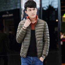 AFS JEEP战地吉普 2017秋冬装新款轻薄修身两面穿立领大码男士羽绒服外套