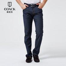 OJACK欧尼杰夏季男士直筒裤长裤青年常规休闲弹力牛仔裤男XY09108